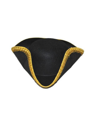 Chapeau Tricorne Galon Or