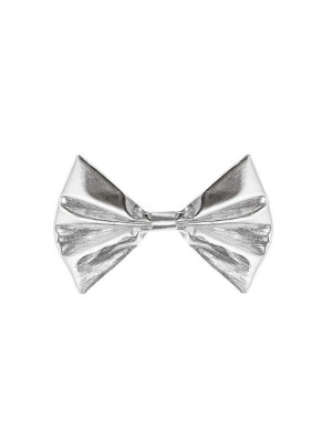 Noeud Papillon Gris metalise
