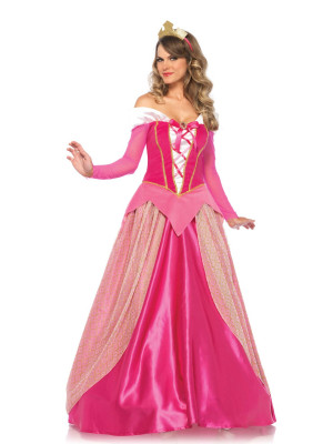 Costume robe princesse adulte aurora