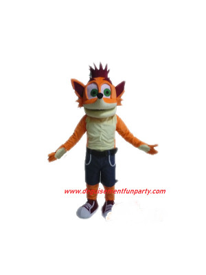 Mascotte Crash Bandicoot renard
